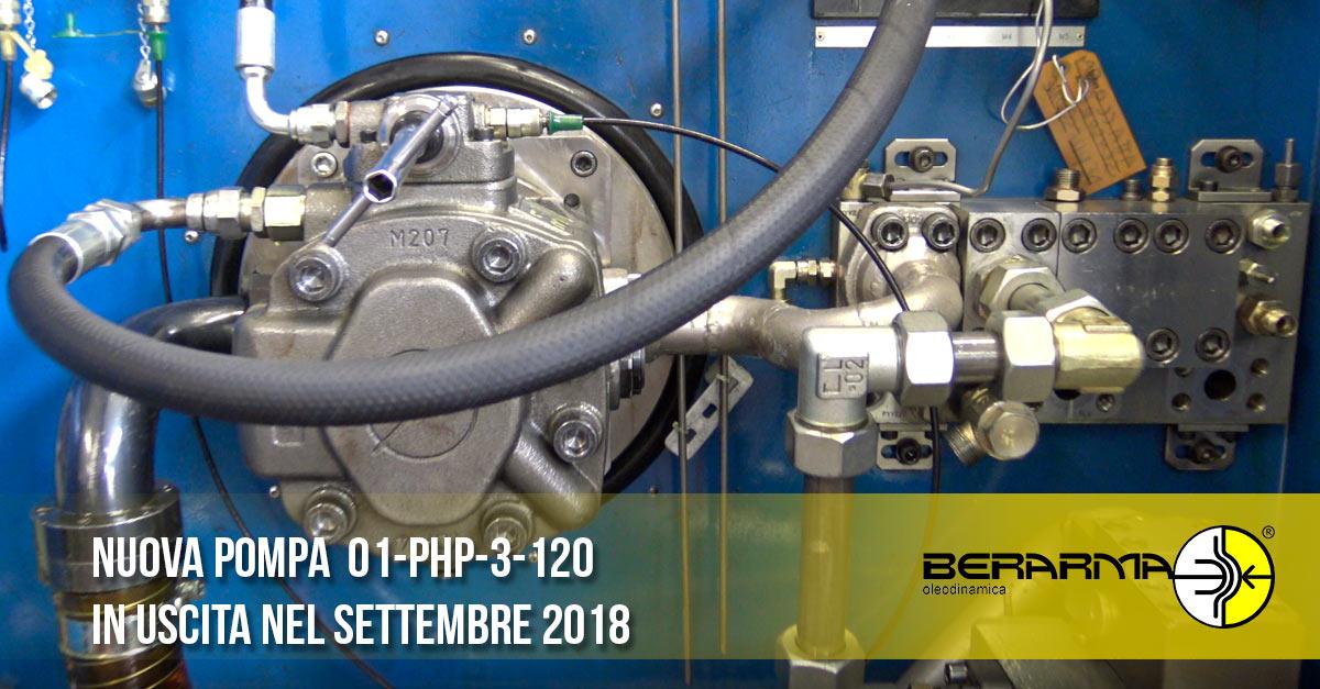 Nuova pompa oleodinamica PHP 250 bar: in uscita nel settembre 2018