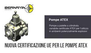 Nuova certificazione UE per le Pompe ATEX