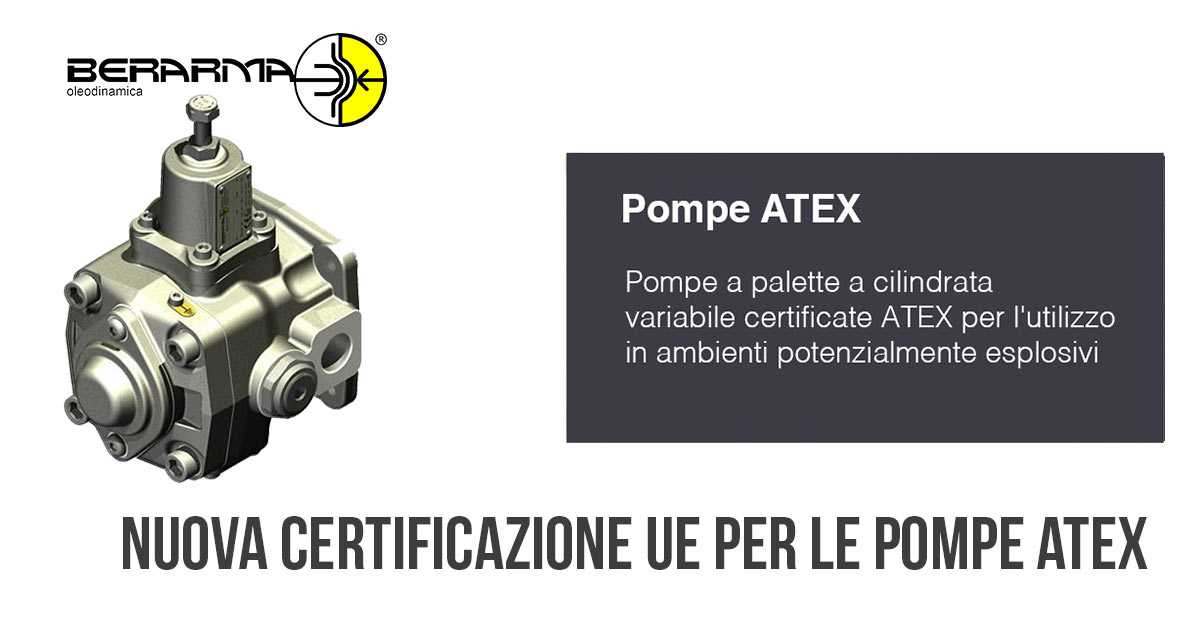 Nuova Nuova Certificazione UE Pompe Atex