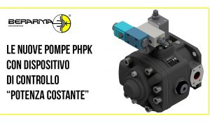 """Le nuove pompe PHPK con dispositivo di controllo """"Potenza Costante"""""""
