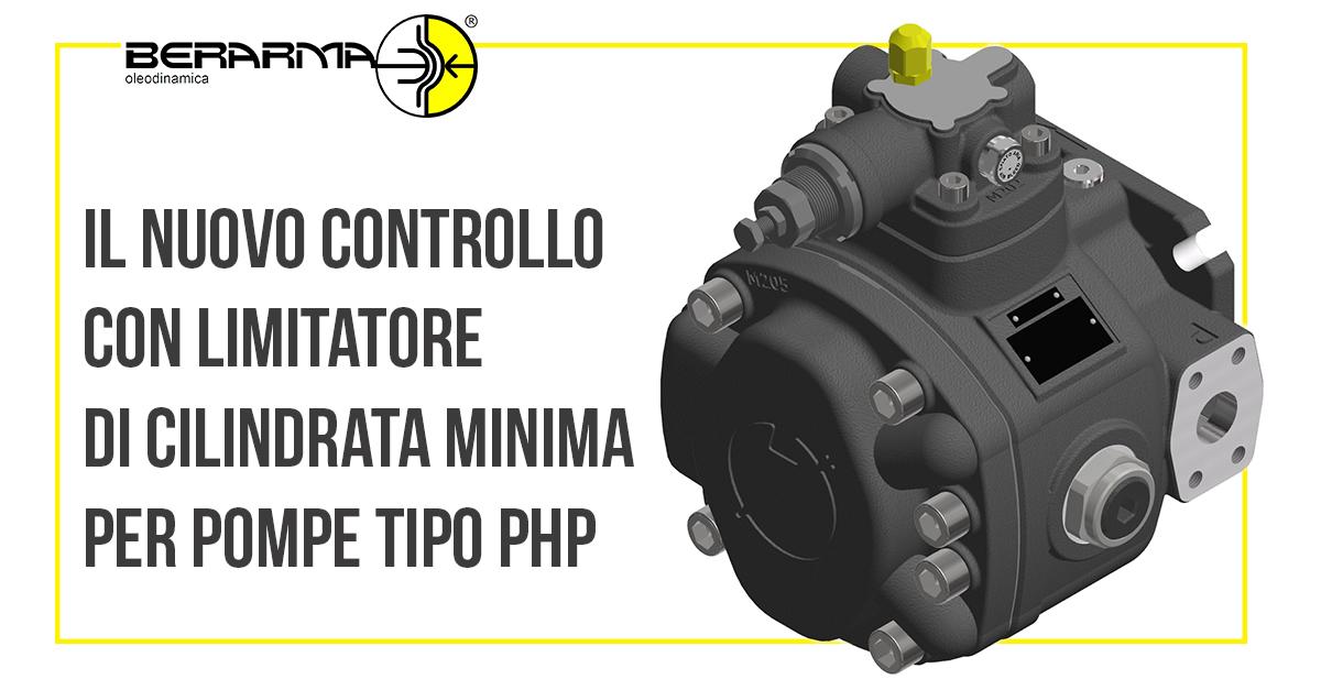 Il nuovo Controllo con limitatore di cilindrata minima per pompe PHP